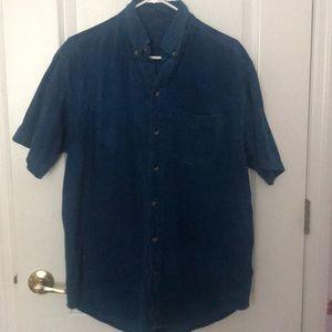 Other - Blue Corduroy Polo Shirt